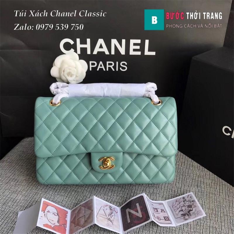 Túi Xách Chanel Classic CF 2.55 size 25.5cm da cừu (108)