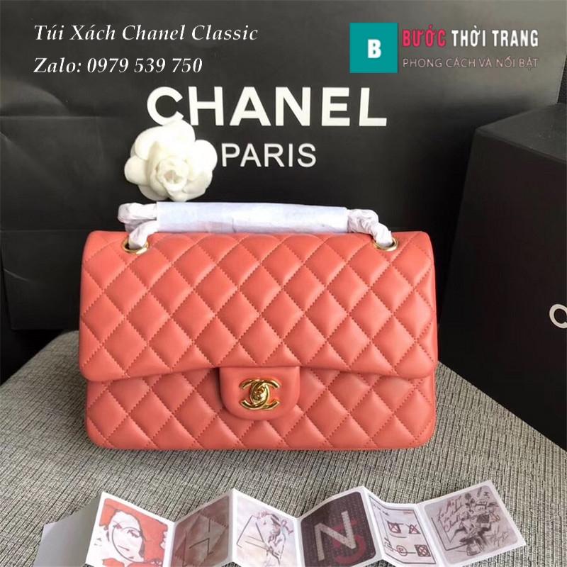 Túi Xách Chanel Classic CF 2.55 size 25.5cm da cừu (90)
