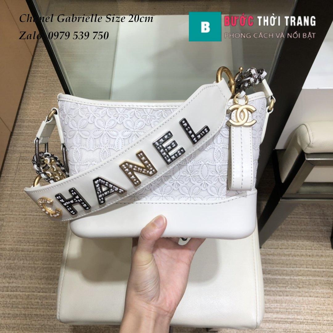 Túi Xách Chanel Gabrielle siêu cấp size 20cm hoa văn (9)