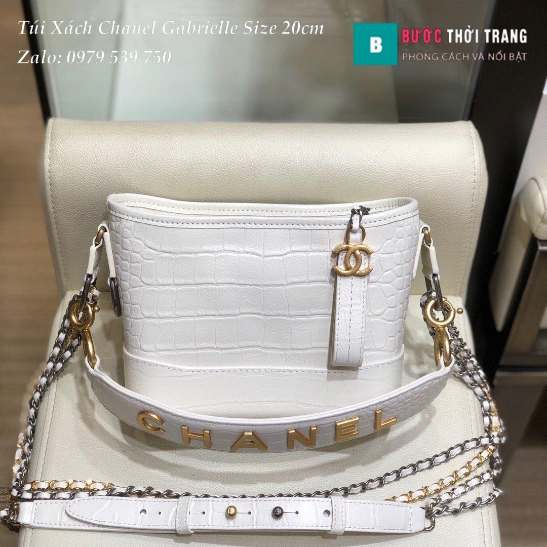 Túi Xách Chanel Gabrielle siêu cấp size 20cm màu trắng (1)