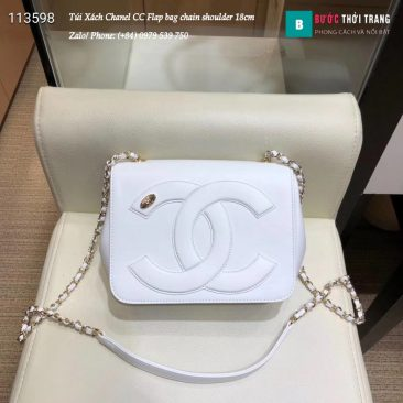 Túi Xách Chanel CC Flap bag chain shoulder siêu cấp 18cm - AS0321 (19)