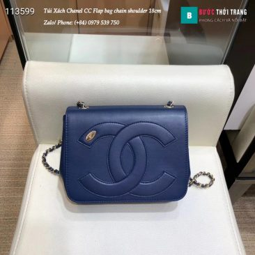 Túi Xách Chanel CC Flap bag chain shoulder siêu cấp 18cm - AS0321