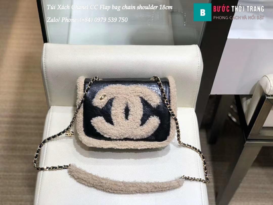 Túi Xách Chanel CC Flap bag chain shoulder siêu cấp 18cm – AS0321