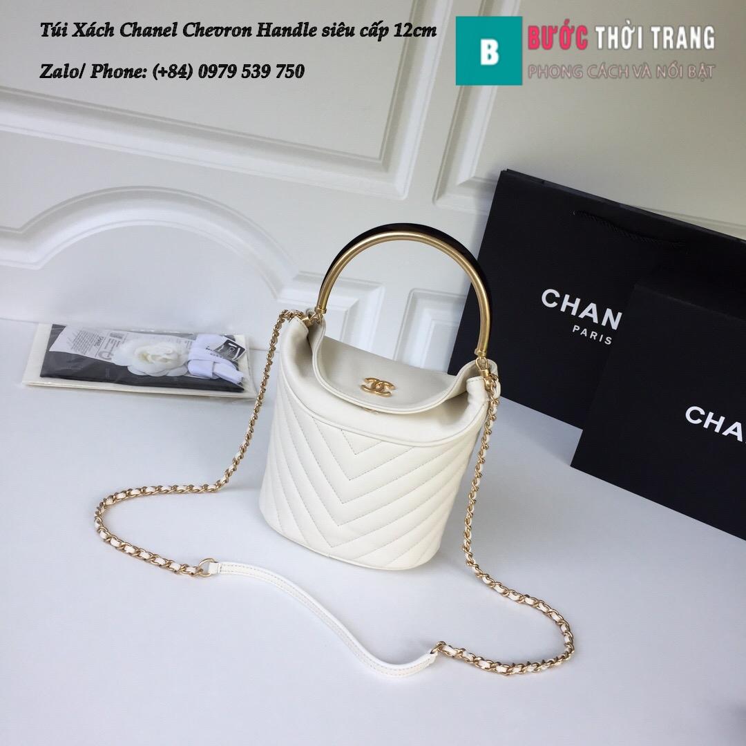 Túi Xách Chanel Chevron Handle with Chic Bucket 12cm – A57861 (1)