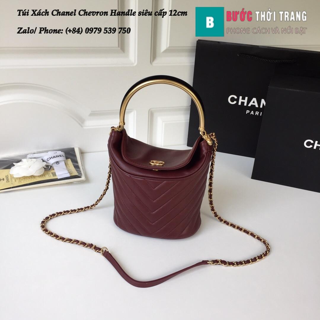Túi Xách Chanel Chevron Handle with Chic Bucket 12cm – A57861 (20)