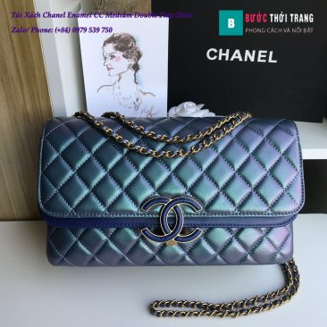 Túi Xách Chanel Enamel CC Medium Double Flap 26cm - A57276 (1)