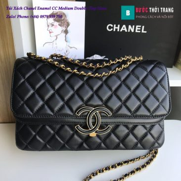 Túi Xách Chanel Enamel CC Medium Double Flap 26cm - A57276
