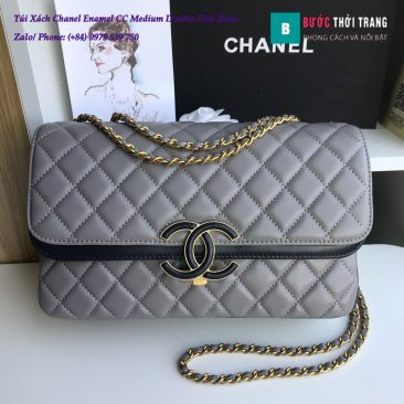 Túi Xách Chanel Enamel CC Medium Double Flap 26cm - A57276 (28)