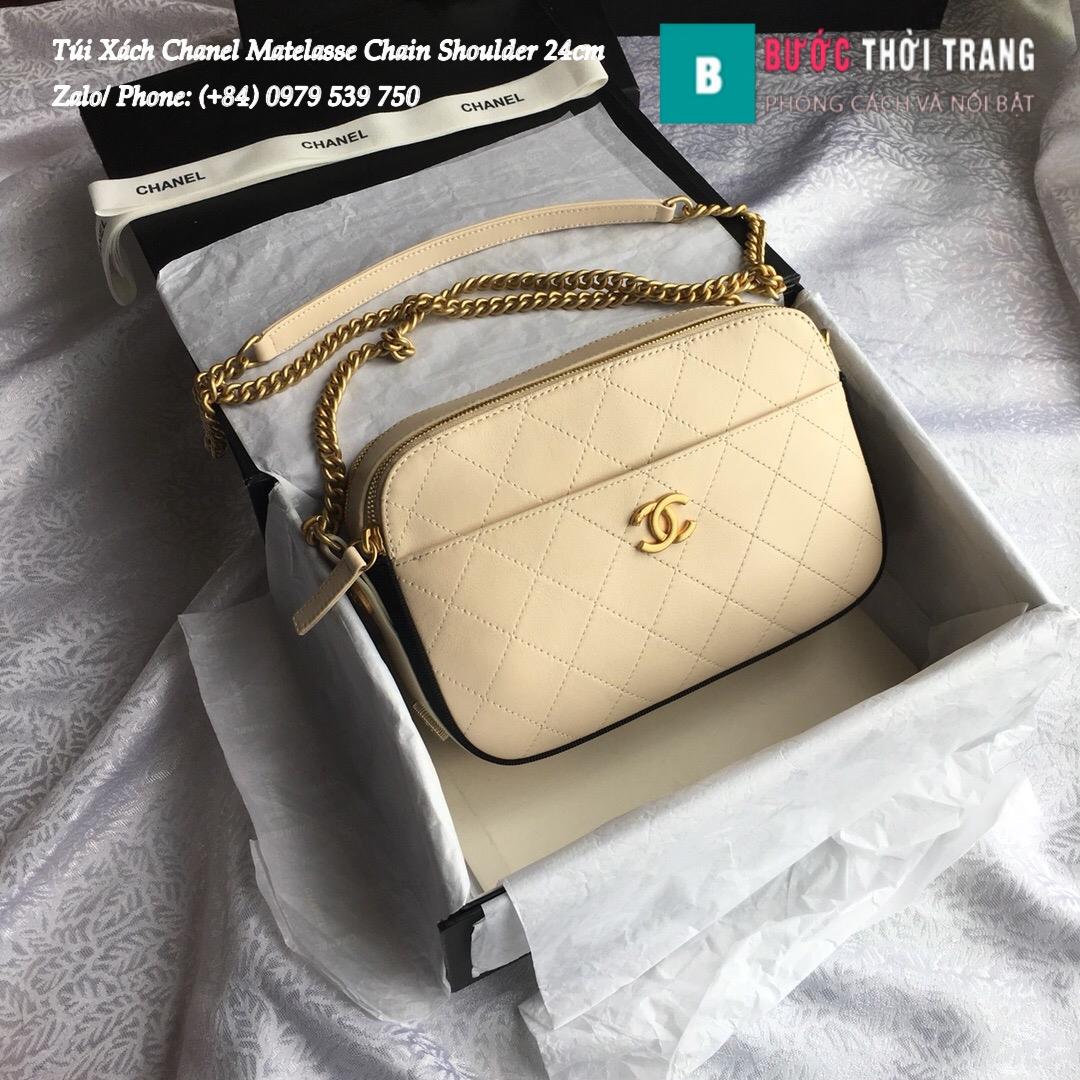 Túi Xách Chanel Matelasse Chain Shoulder siêu cấp 24cm – A57575 (1)