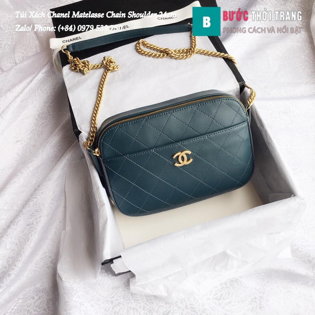 Túi Xách Chanel Matelasse Chain Shoulder siêu cấp 24cm – A57575